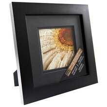 "Black Gallery Frame with Black Double Mat by Studio Décor, 5"" x 5"""