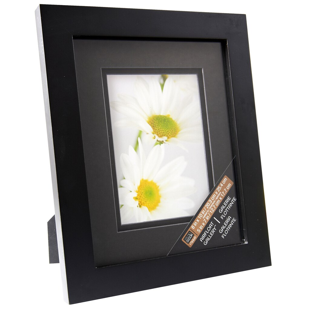 black gallery frame with black double mat by studio dcor - Double Frame