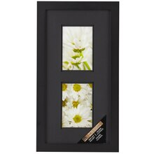 Black 2-Opening Gallery Frame with Black Double Mat by Studio Décor