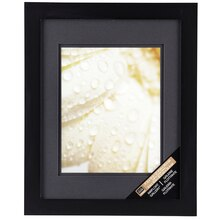 "Black Gallery Wall Frame with Black Double Mat by Studio Décor. 8"" x 10"""
