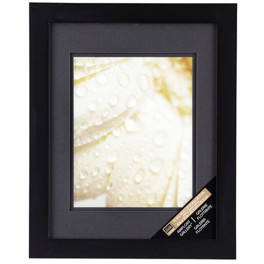 Black Gallery Wall Frame With Black Double Mat By Studio