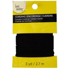 Bead Landing Sueded Cording, 3 yd. Black