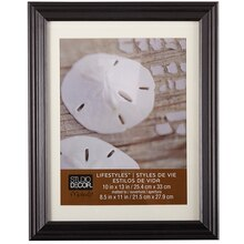 "Studio Décor Lifestyles Frame With Mat, Black 8.5"" x 11"""