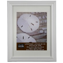 "Studio Décor Lifestyles White Frame With Mat, 8"" x 10"""