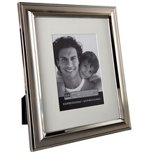 "Studio Décor Expressions Two-Tone Silver Frame With Mat, 5"" x 7"""