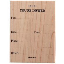 Recollections Wood Stamp, You're Invited