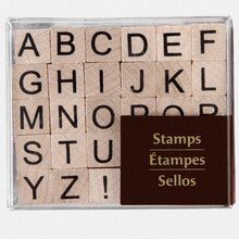 recollections wood stamps small upper case alphabet