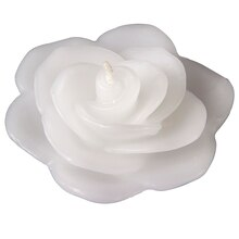 Ashland Floating Rose Candle, Gardenia