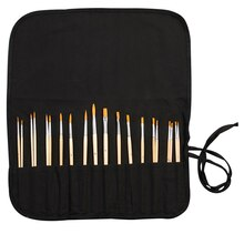 Artist's Loft Golden Synthetic Brush Roll Set