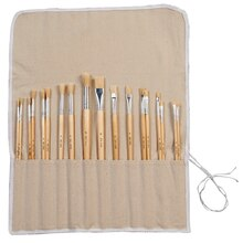 Artist's Loft Bristle Brush Roll Set