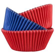 Celebrate It Standard Baking Cups, Red & Blue