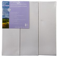 "Artist's Loft Back Stapled Deco Canvas Pack, 4"" x 12"""
