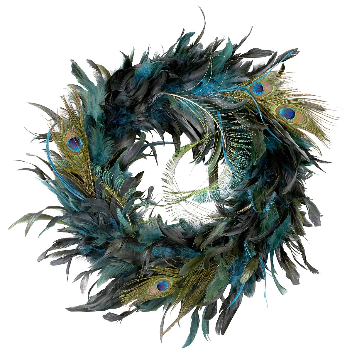 Peacock feather wreath by ashland