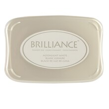 Brilliance Pearlescent Pigment Ink, Moonlight White