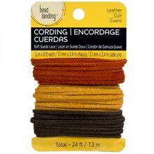 Bead Landing Soft Suede Lace Value Pack, Olive Rust Gold