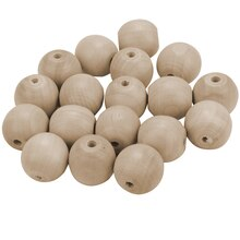 Lara's Crafts Round Wood Beads, 1""