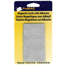 """Pro MAG® Magnetic Cards with Adhesive, 2"""" x 3.5"""", medium"""