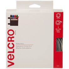 VELCRO Brand STICKY BACK Tape, 15 ft, White, New Packaging