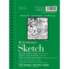 """Strathmore 400 Series Recycled Sketch Pad, 5.5"""" x 8.5"""""""