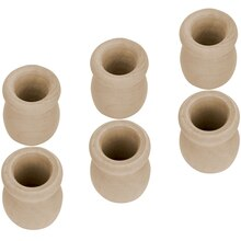 "Lara's Crafts Wood Candle Cup, 7/8"" Hole"