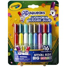 Crayola Pip-Squeaks Washable Glitter Glue, Packaged