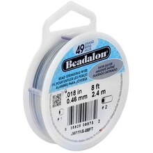 Beadalon 49 Strand Bead Stringing Wire, Satin Silver