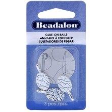 Beadalon Glue-on Bails, Silver