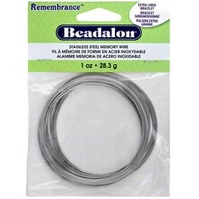 Remembrance Stainless Steel Memory Wire Bracelet, Extra Large