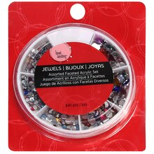 Bead Landing™ Assorted Faceted Acrylic Set, Multicolor, medium
