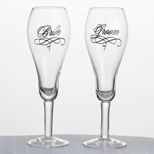 Lillian Rose Bride & Groom Toasting Glasses