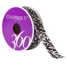 Celebrate It 360° Nylon Ribbon, Damask