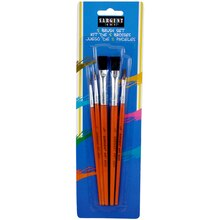 Sargent Art® Natural Hair Paint Brush Assortment, 5 Count, medium