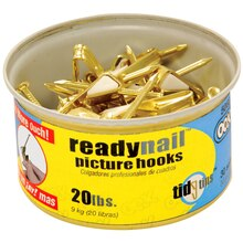 OOK ReadyNail 20 lb. Picture Hooks in Tidy Tin, Package