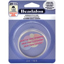 Beadalon German Style Wire, Half Round, 2.4 m