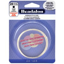 Beadalon German Style Wire, Square, 1.2 m