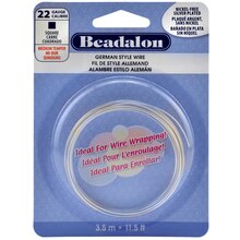 Beadalon German Style Wire, Square, 22 Ga