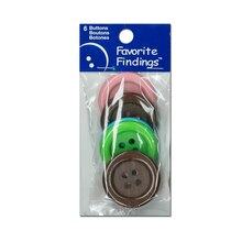 Blumenthal Lansing Favorite Findings Clean Big Buttons, Multicolor