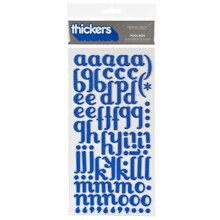 Thickers Glitter Foam Poolside Alphabet Stickers, Blue