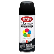 Krylon ColorMaster Semi-Gloss Enamel, Black