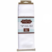 Crafty Cuts Costume Silk, White