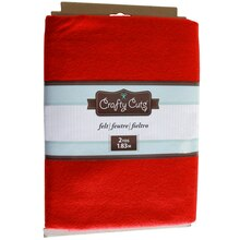 Crafty Cuts Felt, Red