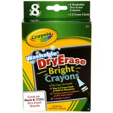 Crayola Washable DryErase Crayons Brights