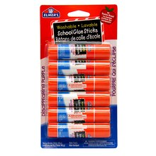 Elmer's Disappearing Purple School Glue Stick, 6 ct.