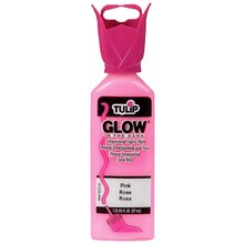 Tulip Glow In The Dark Dimensional Fabric Paint, 1.25 oz., Pink