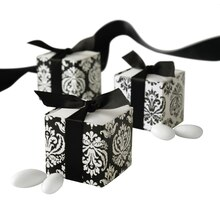 Celebrate It Occasions Reversible Favor Boxes, Black & White