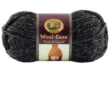 Lion Brand Wool-Ease Thick & Quick Yarn, Charcoal