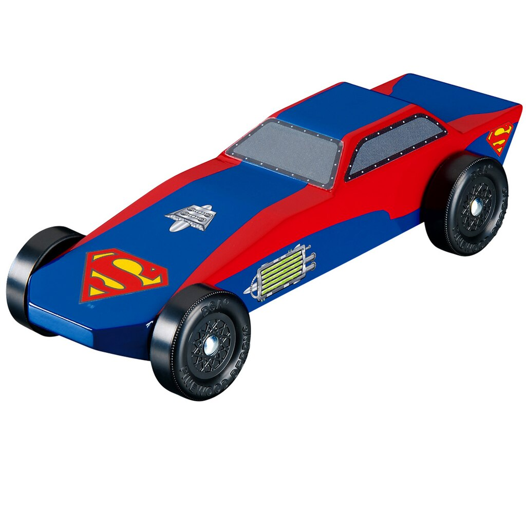 Revellr pinewood derbyr supermantm sports car racer kit for Pinewood derby car image