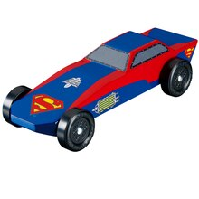 Revell Pinewood Derby Superman Sports Car Racer Ki
