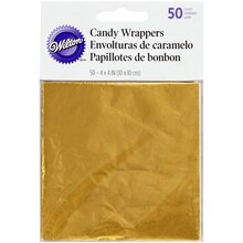 Wilton Candy Wrappers, Gold