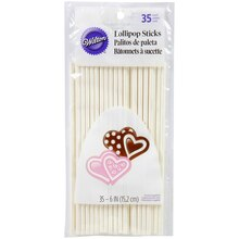 "Wilton Lollipop Sticks 6"", 35 Count"